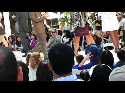 Stanford shopping center fashion show