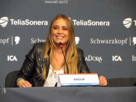 ESCKAZ live in Malmö:Press conference from Anouk (The Netherlands)