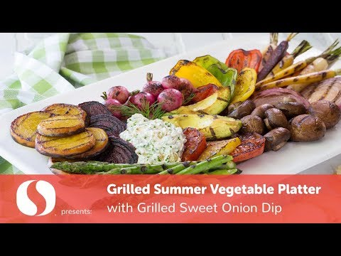 grilled-summer-vegetable-platter-with-grilled-sweet-onion-dip- -simple-sides- -safeway