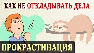 Прокрастинация. Как Бороться с Прокрастинацией и Не Откладывать Дела На Потом смотреть онлайн в хорошем качестве - VIDEOOO