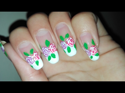 Valentine's Day Manicure Collab: Roses Nail Art Tutorial: No Tools French Nails | Rose Pearl
