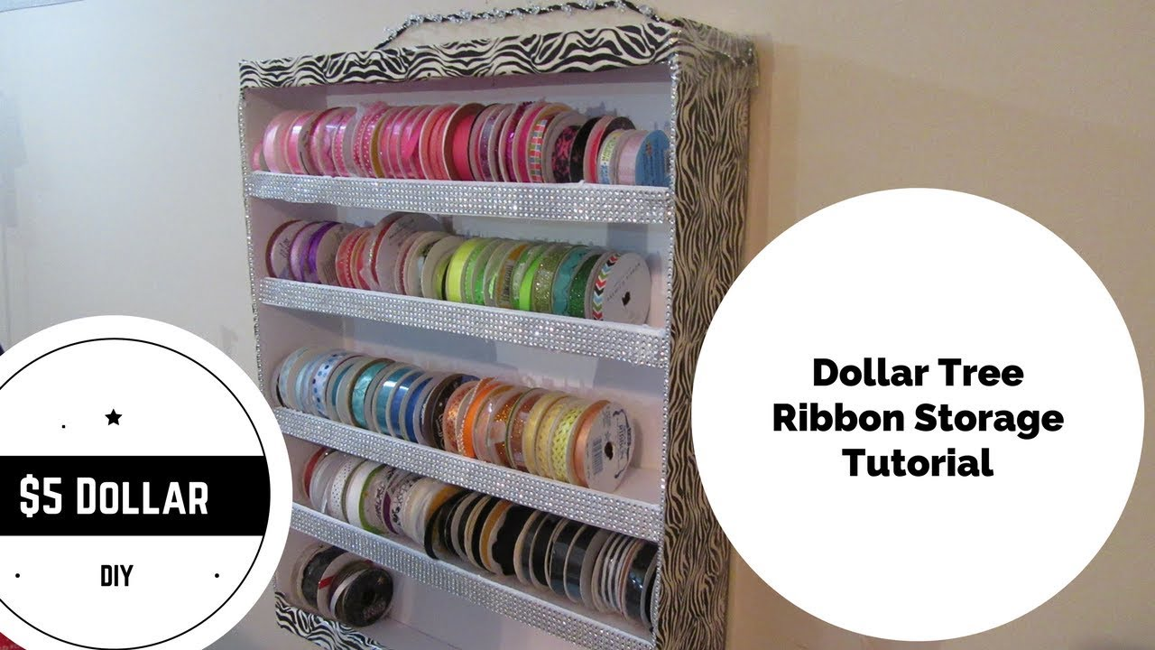 5 dollar tree diy ribbon storage holder youtube 5 dollar tree diy ribbon storage holder solutioingenieria Image collections