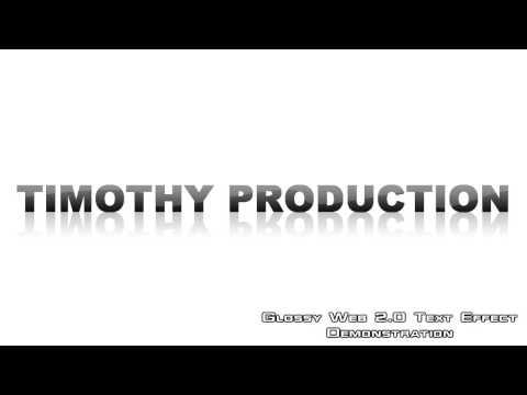 SONY VEGAS PRO  - Glossy Web 2 0 Text Effect (HD)
