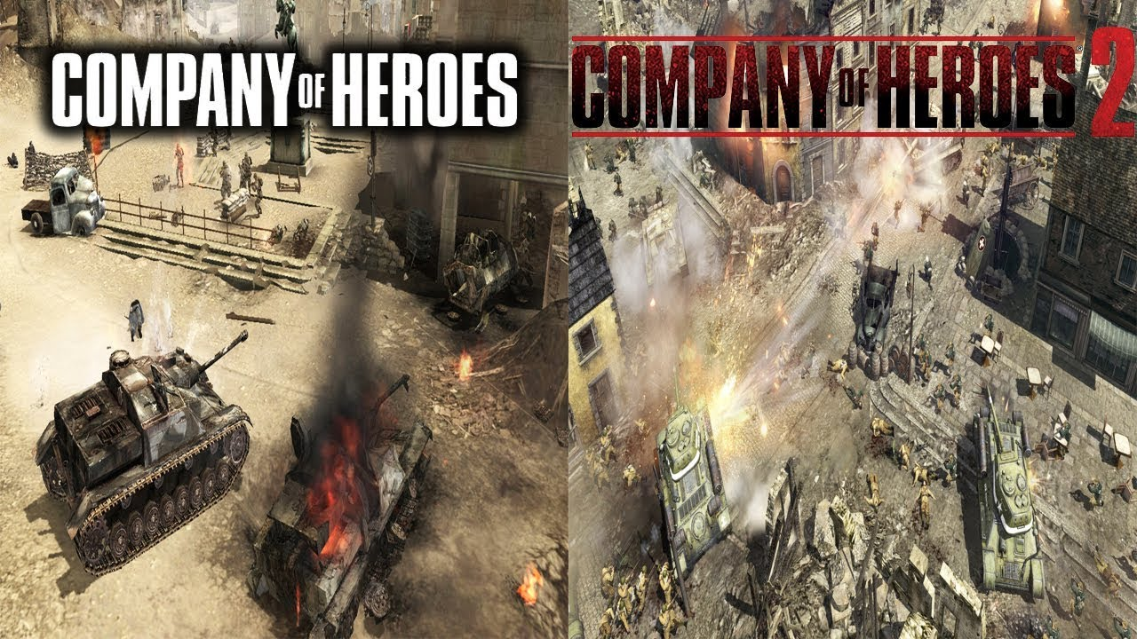 Company Of Heroes Vs Company Of Heroes 2 2006 2013 Youtube