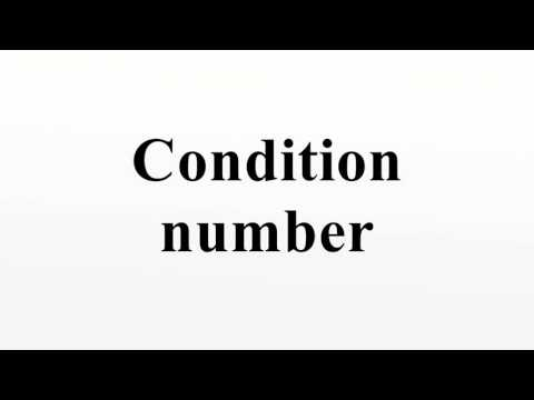 Condition number