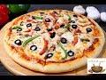 طريقة عمل البيتزا بيتزا المطاعم بجميع اسرارها وبعجينة قطنية وهشة مع صلصة البيتزا بطريقة احترافية #pizza فيديو من يوتيوب