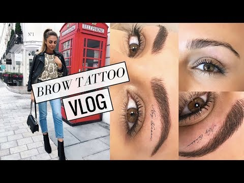 A WEEKEND IN LONDON & TATTOOING MY EYEBROWS! VLOG #7 | Annie Jaffrey