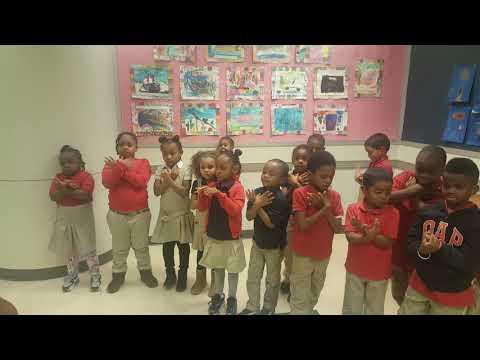 Community Partnership School's Kindergarten Eagles Fans
