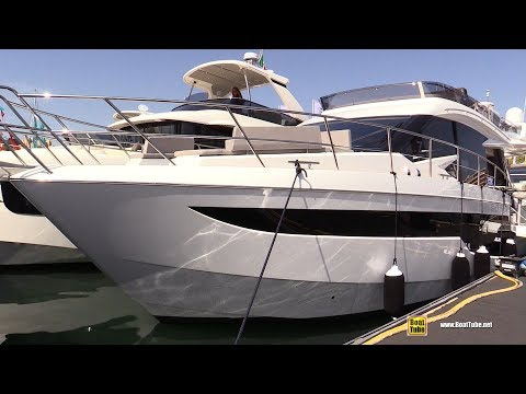 2019 Galeon 500 Fly Yacht - Deck and Interior Walkaround - 2018 Cannes Yachting Festival