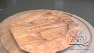 Root Wood Serving Tray Chargers