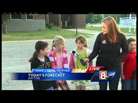 Students at Dayton Consolidated School help deliver bus stop forecast