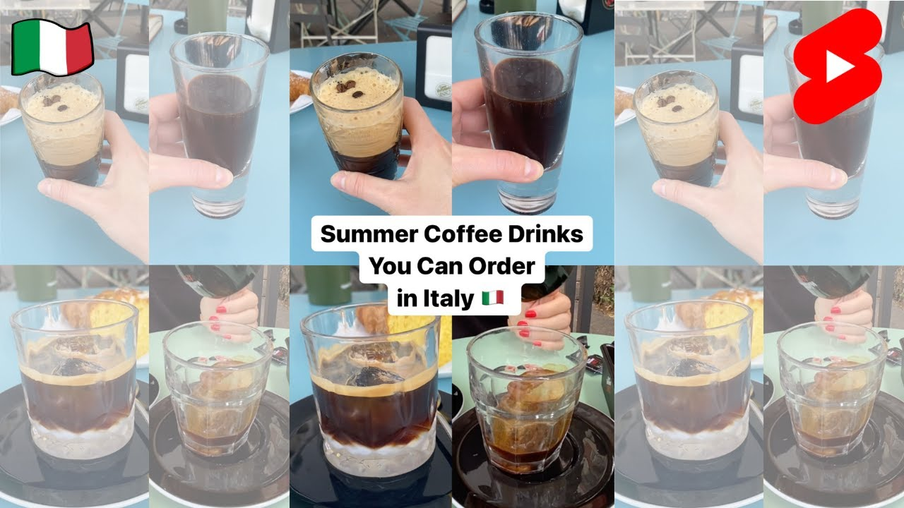 Italian Summer Coffee Drinks You Can Order in Italy 🇮🇹 #Shorts
