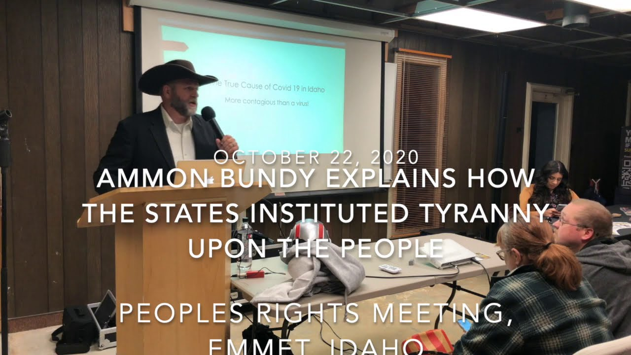 Ammon Bundy in Idaho, COVID emergency is all about getting Government money