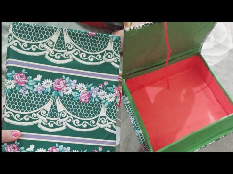 how to make beautiful cardboard jewelry box |storage |organizers |Craft and decorations