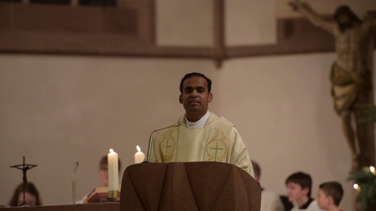 Weihnachtspredigt an Heilig Abend von Pater Kaplan Loice Neelankavil ...