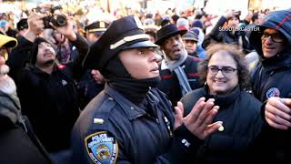 Trump supporter confronts protesters in Union Square NY