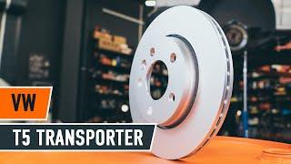 gale ir priekyje Stabdžių diskas keitimas VW TRANSPORTER V Box (7HA, 7HH, 7EA, 7EH) - vaizdo pamokomis