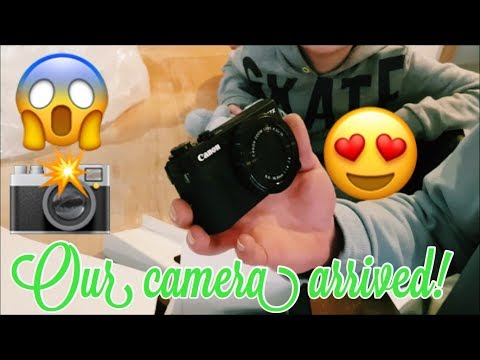 THE CAMERA ARRIVED!(CANON POWERSHOT G7 X ii) UNBOXING!