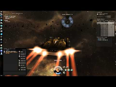 Eve Online Gameplay:  Mining Multiple Asteroids At Once And Using Mining Drones