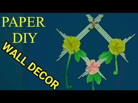 DIY Paper Wall Hanging Make || How to make paper Wallmate!!  Easy Craft making..