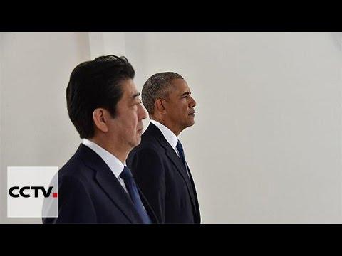 Japanese PM visits USS Arizona with U.S. President