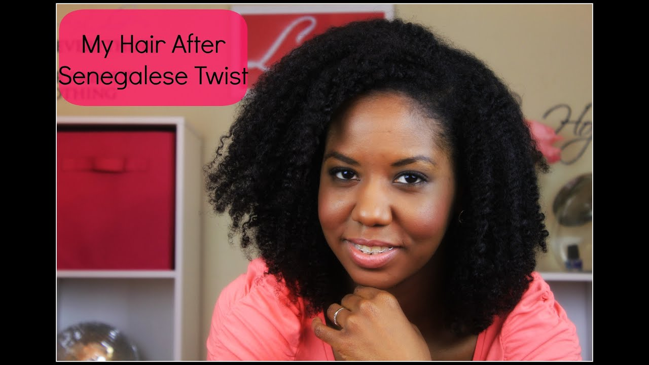 My Natural Hair After Senegalese Twist YouTube
