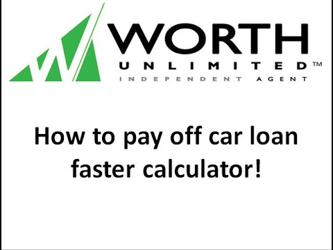 how to pay off car loan faster calculator youtube