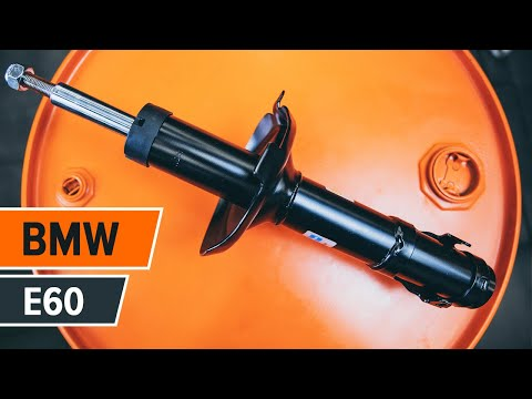 How to replace front shock absorbers on BMW 5 E60 TUTORIAL | AUTODOC