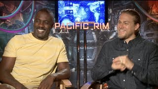 PACIFIC RIM Interviews: Charlie Hunnam, Idris Elba, Charlie Day, Ron Perlman and Guillermo del Toro