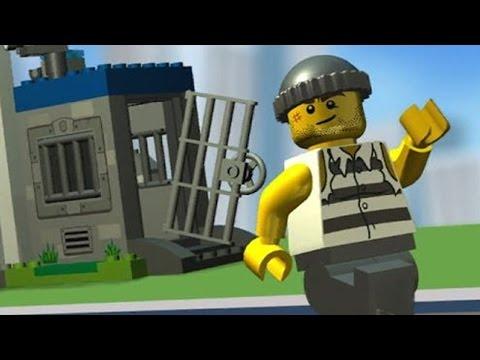 Мульфильм про Лего. Лего Полиция. Полицейский ищет преступника. Игры для мальчиков.