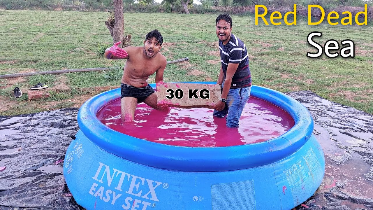 Making Red Dead Sea With 1000 KG Salt - क्या इसमें पत्थर तैरेगा? Interesting Result 🤨