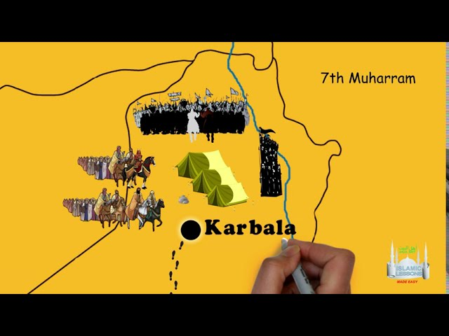 The Route of Imam Hussein to Karbala