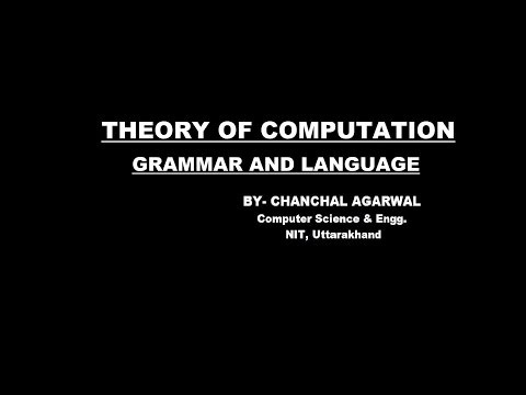 GRAMMAR AND LANGUAGE- PART_1 || THEORY OF COMPUTATION