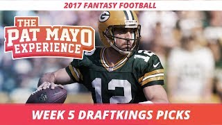 2017 fantasy football - week 5 draftkings picks, preview and sleepers