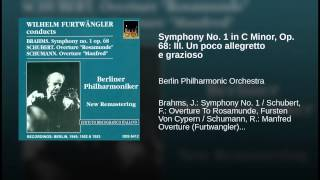Symphony No. 1 in C Minor, Op. 68: III. Un poco allegretto e grazioso