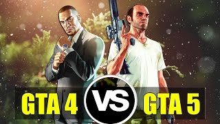 GTA IV vs GTA V Graphics Physics and FPS Comparison