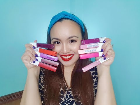 MAYBELLINE SUPERSTAY MATTE INK | LIPSWATCH and GIVEAWAY!