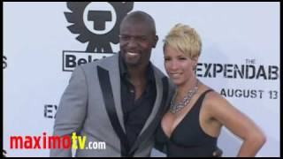"Terry Crews and Rebecca Crews at ""The Expendables"" Premiere Arrivals August 3, 2010"