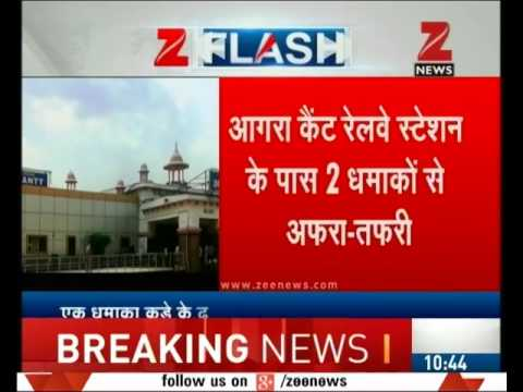 Two low intensity blasts near Agra Cantt railway station