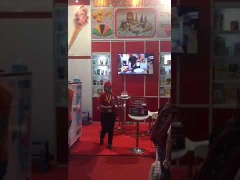 hommy machine show in Jakarta Indonesia 20181123, HM116T ice cream table top machine