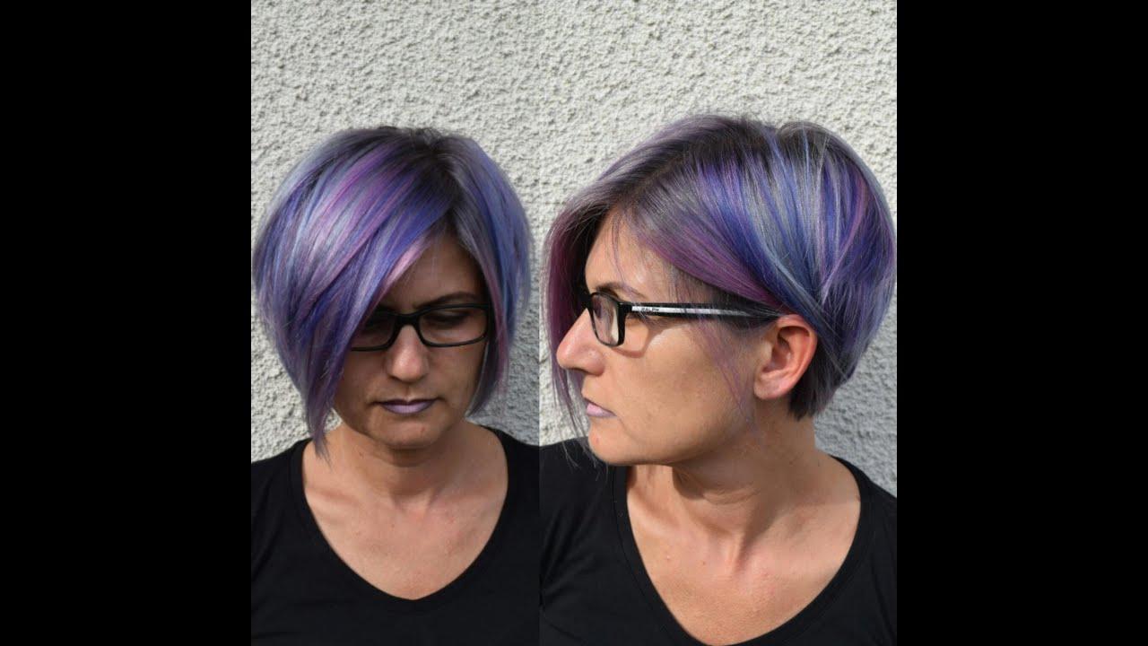 Haare Farben Bunte Strahnen