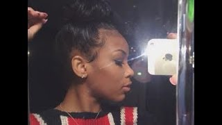 How I do my bun + Tame my baby hair | HIGHLY REQUESTED! Thumbnail
