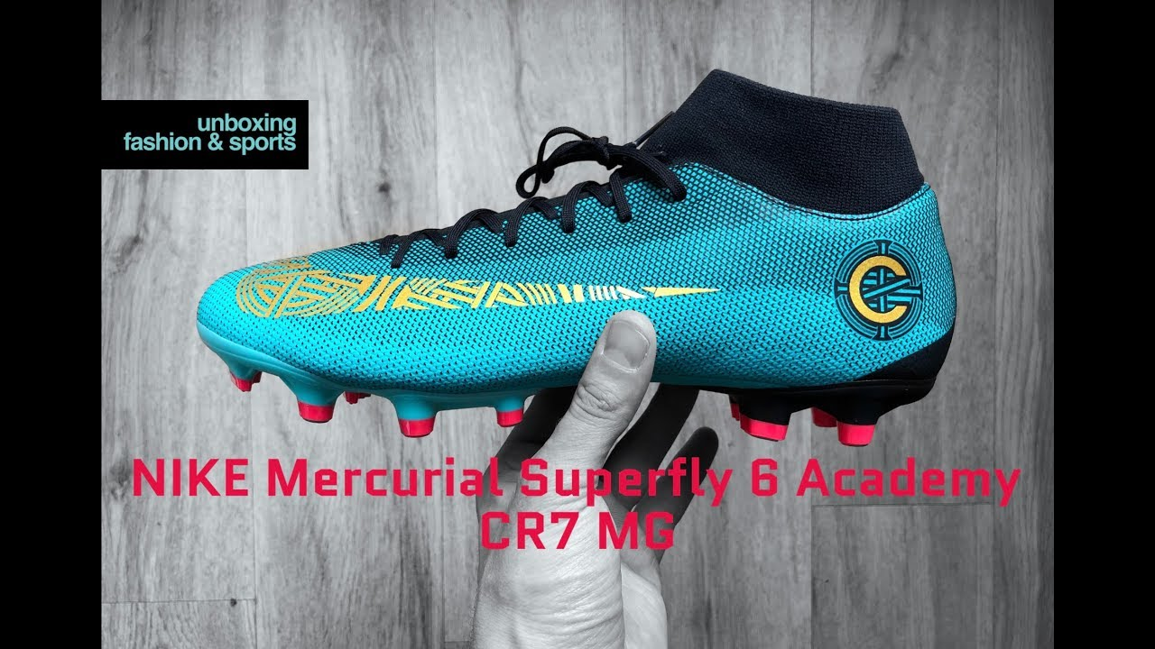 e3a8d869 NIKE Mercurial Superfly 6 Academy CR7 MG 'Born leader' | UNBOXING & ON FEET  | football boots | 4K
