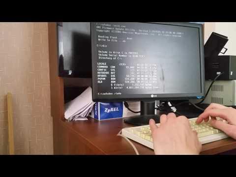 Старичок 478. Прошивка биос платы Asus P4P800-VM в Dos