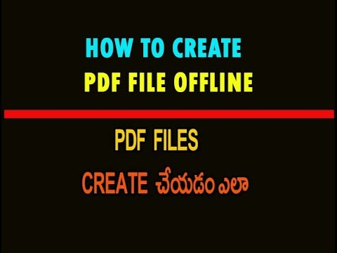 How To Create PDF File Offline Telugu Part 4