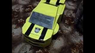 Новогодний костюм трансформера автобота. BumbleBee costume autobot.(Костюм BumbleBee сделан для шестилетнего сына к новогоднему утреннику из подручных средств своими руками. Поша..., 2011-12-25T17:13:10.000Z)