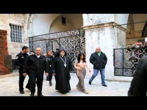 Kim Kardashian and Kanye West have daughter baptised in Jerusalem