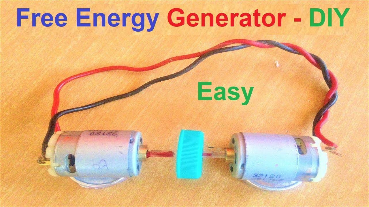 How To Make Generator using DC Motor