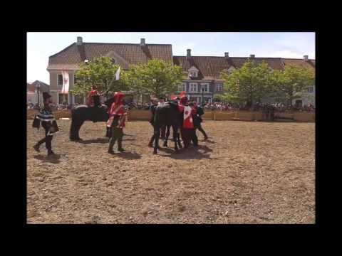 Ridderturnering På Nyborg Middelaldermarked - 2014