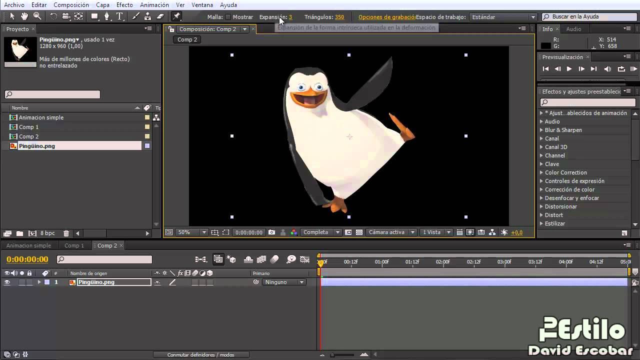 After Effects Animar Una Imagen Tipo1 Herramienta De Ubicación De Posición Libre Youtube